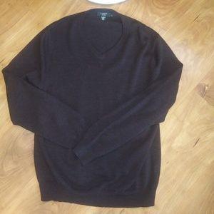 J. Crew brown wool sweater